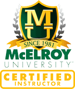 McElroy Universtiry Certified Instructor