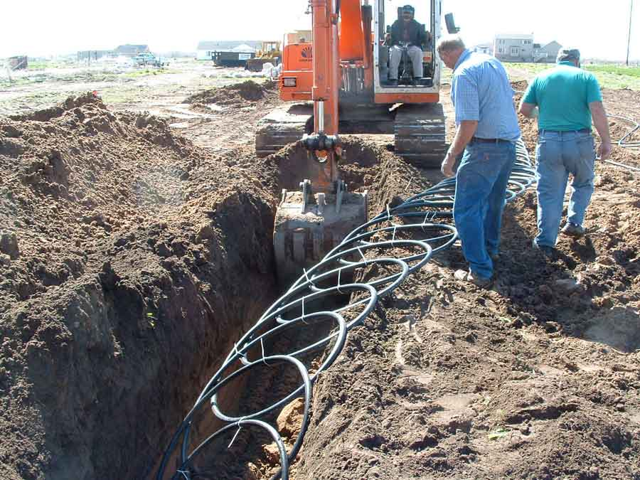 Geothermal ground source conduit systems industrial